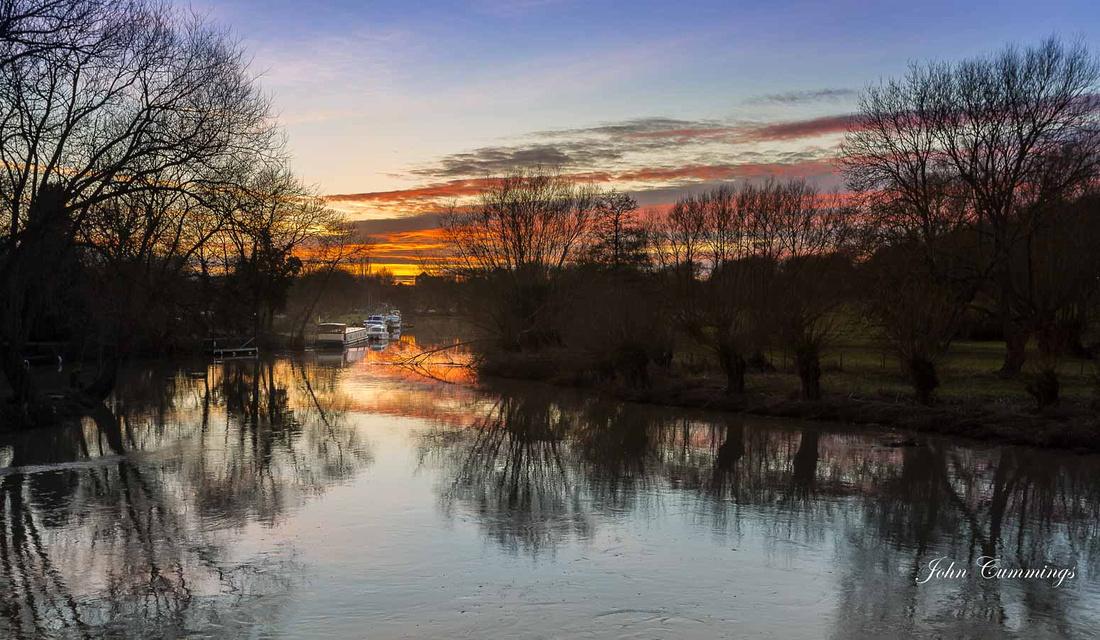 Sunset, Welford on Avon