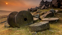Stanage Edge Millstones at Sunset