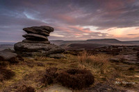 Over Owler Tor at Dawn looking towards Higger Tor