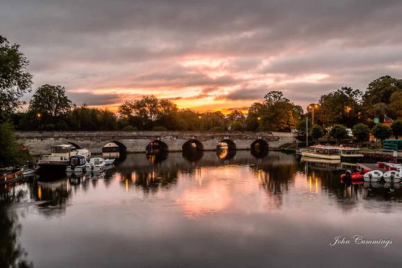 Sunrise, Clopton Bridge, Stratford upon Avon