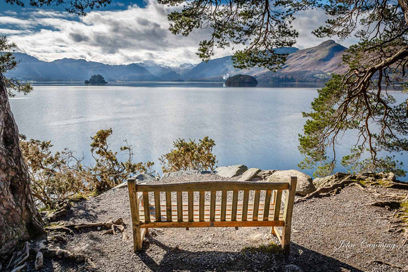 Bench at Friars Cragg, Derwent Water
